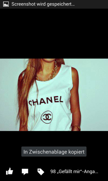 chanel shirt whiteblack german shop