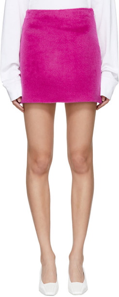 Helmut Lang miniskirt pink skirt