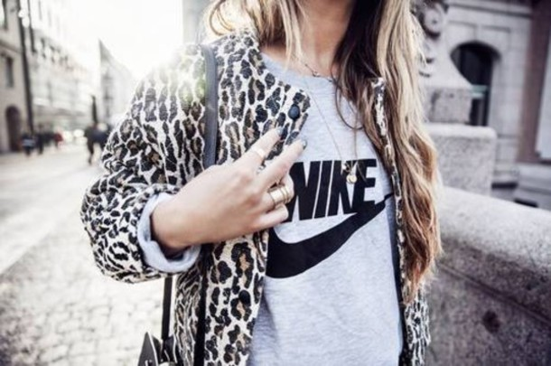 first rate 6989c 301e8 shirt nike black shirt leopard print jacket swag style cool