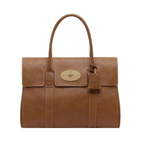 Bayswater in Oak Natural Leather With Brass | Women's Bags | Mulberry