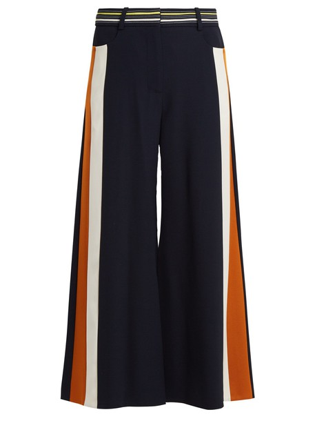 Peter Pilotto culottes high wool navy pants