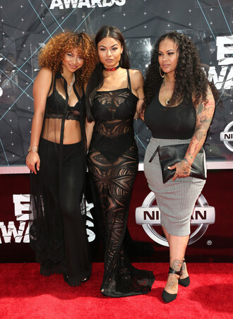 dress sheer maxi dress lace lace dress bet awards crystal westbrooks