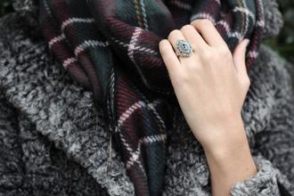 scarf blogger tartan zara