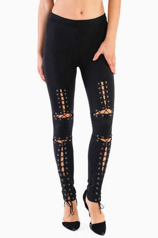 Lace Up Leggings ~ TOBI