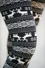 Tiny nordic reindeer leggings