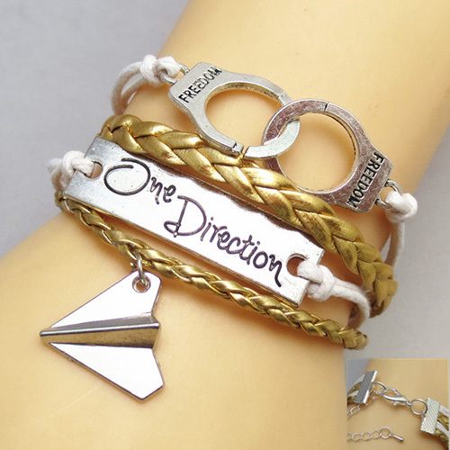 [grxjy51201251]Retro One Direction Engraved Woven Bracelet