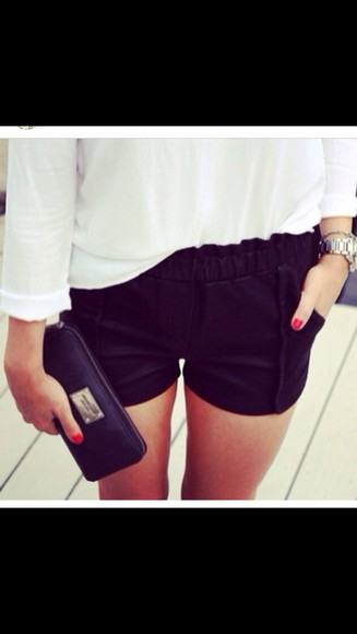 shorts black cute black shorts highwaisted highwaisted shorts cute shorts