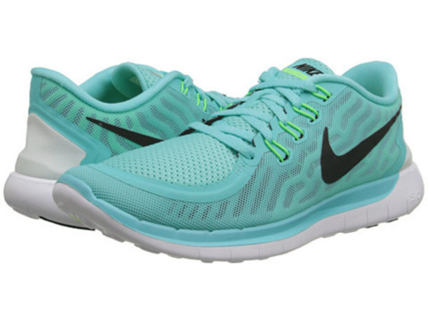 nike free run mint green size 5