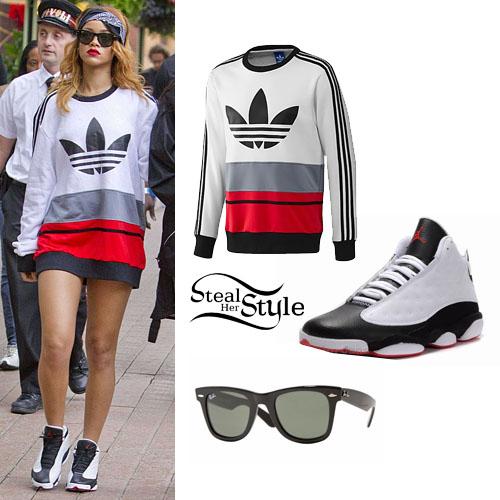 Rihanna Adidas Sweatshirt Air Jordan Sneakers Steal Her Style