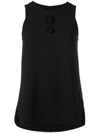top sleeveless women lace black