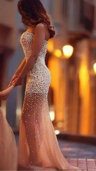 gold sequins mermaid dress