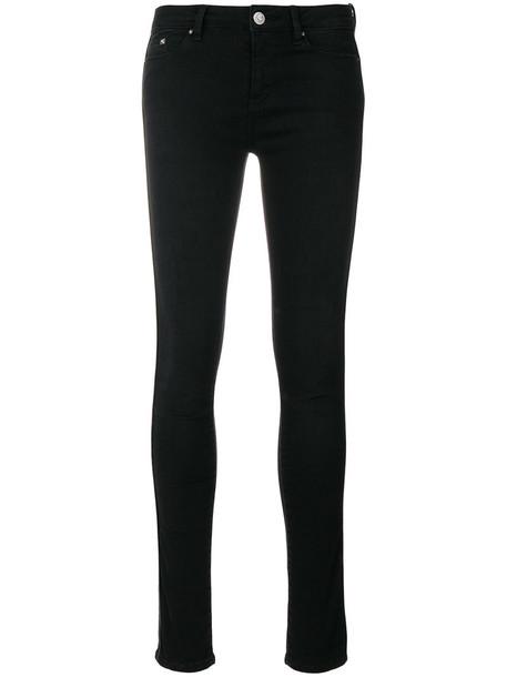 karl lagerfeld jeans skinny jeans zip women spandex cotton black