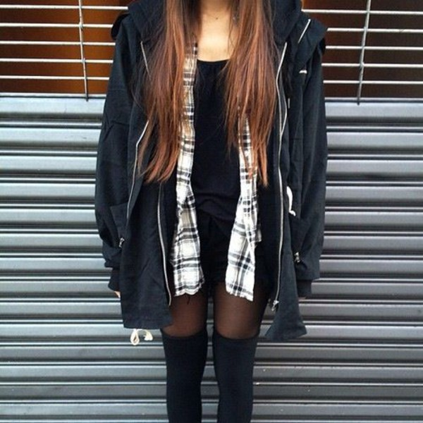 Flannel shirt jacket grunge grunge grunge fall outfits grunge jacket oversized - Wheretoget