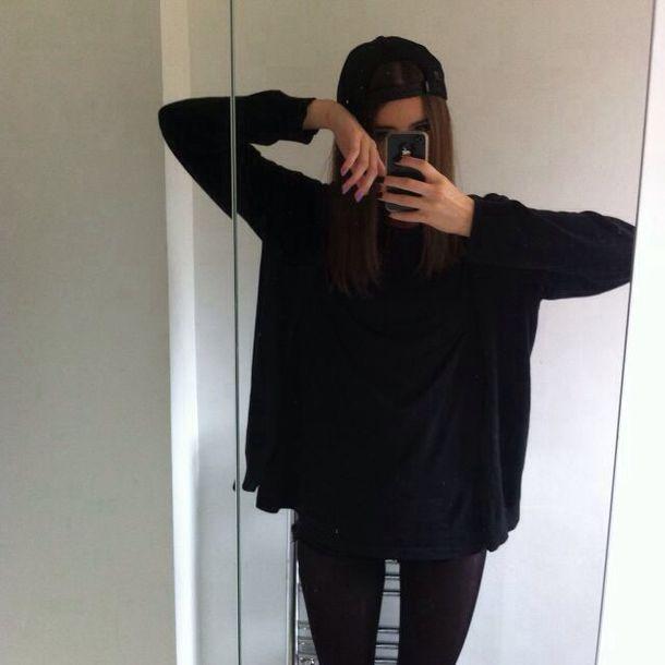 Top black t shirt dress t shirt tumblr outfit tumblr for T shirt dress outfit tumblr