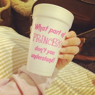 romper princess pink drink coffe