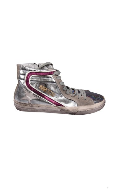 sneakers. sneakers glitter silver multicolor shoes