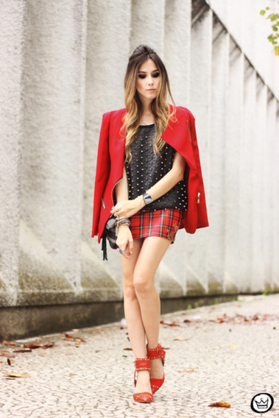 fashion coolture t-shirt jacket skirt shoes