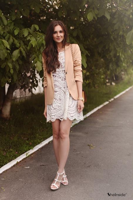 White Lace - Womens Fashion Clothing at Sheinside.com