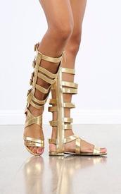 shoes,gold,gladiators,sandals