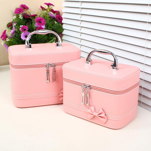cosmetic bag case makeup bag makeup box travel cosmetic bag professional beauty box makeup cosmetic box ...
