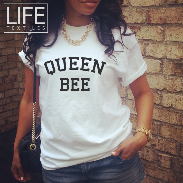 Queen bee chemise beyonce styliste impeccable custom haut de gamme personnalisé tumblr londres milan paris déclaration blogger tshirt
