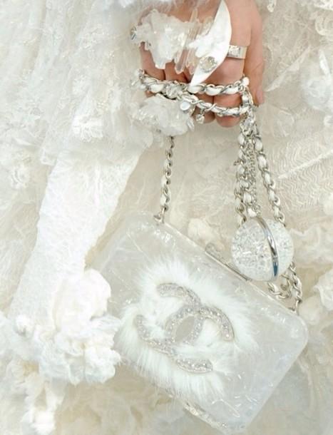 bag chanel white chanel clutch chain