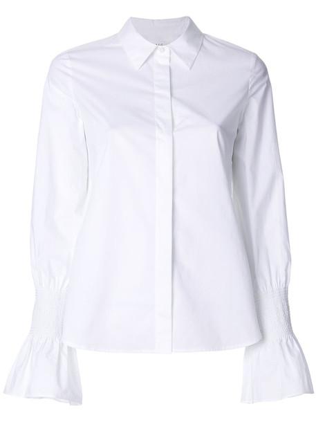A.L.C. A.L.C. - bell cuff shirt - women - Cotton - 12, White, Cotton