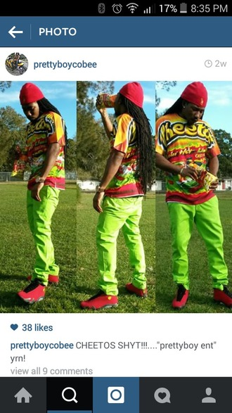 pants bright colored