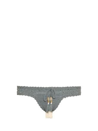 bikini crochet bikini hipster crochet blue swimwear