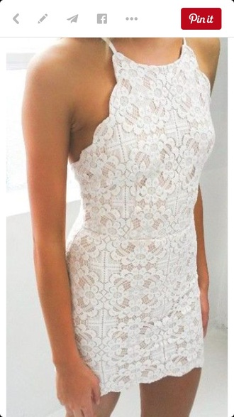 dress white white dress white lace dress white lace bodycon dress bodycon elegant dress elegant classy classy dress romantic homecoming dress homecoming white and tan lace dress