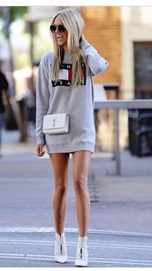 dress,grey,tommy jeans,logo,tommy hilfiger,tommy hilfiger sweatshirt