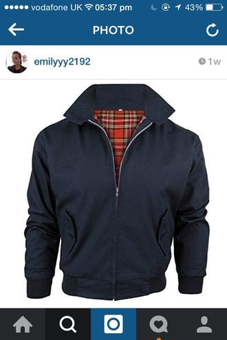 jacket black jacket harrington
