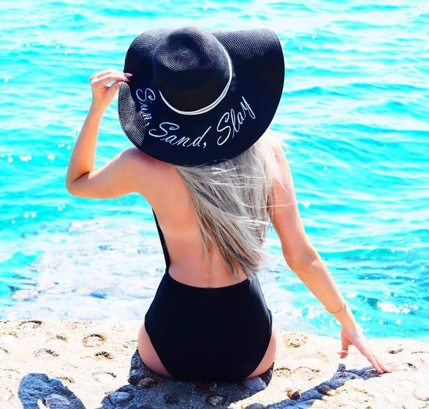 3c8fdcced3f2c hat slay prettylittlething beach customized beach hat summer summer outfits  summer holidays summer accessories floppy hat