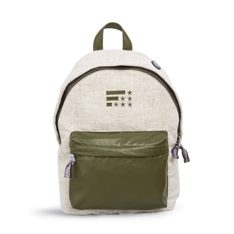 bag fusion clothing rucksack plain onecolor green flag backpack embroidered zip