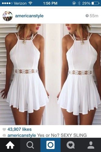 dress white dress lace dress summer dress