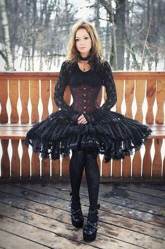 dress lolita gothic corset