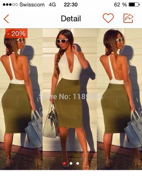 dress naked back summer dress big v-neck
