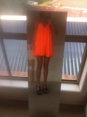 dress,clothes,swing,flowy,neon,short,summer,shoes