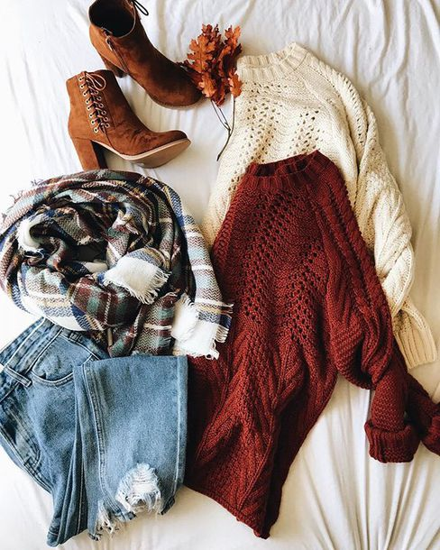 Sweater Ootd Fashion Rust Cute Camel Trendy Inexpensive