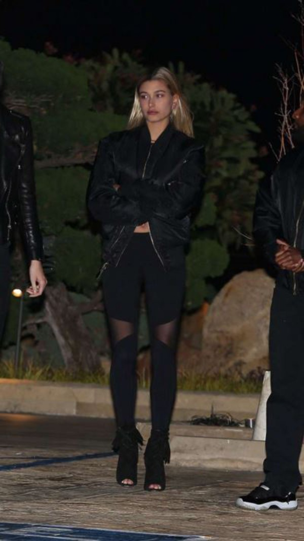 513d193e3ae leggings hailey baldwin all black everything jacket shoes booties bomber  jacket.