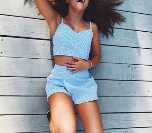 tank top mackenzie ziegler romper dress shorts top i really want to find this matching outfit t-shirt jumpsuit kenzie ziegler a two piece matching set