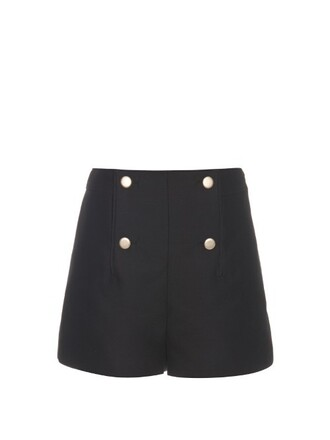 shorts cotton silk black