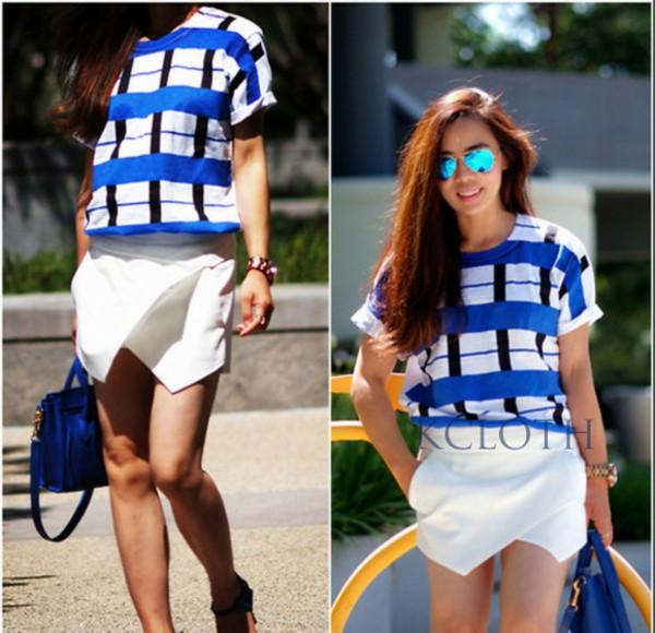 kcloth chiffon shorts skorts chiffon skort t-shirt sunglasses