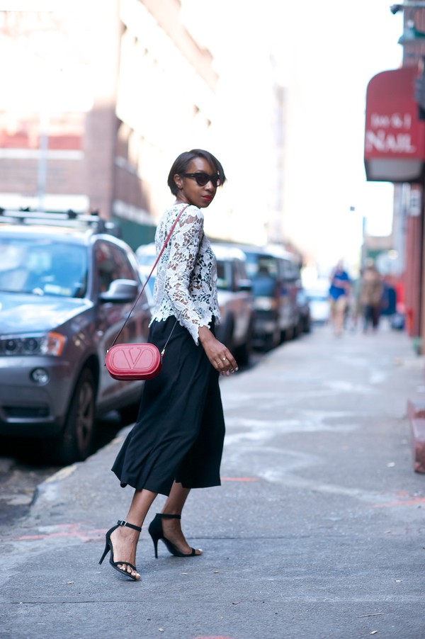 where did u get that blogger blouse shoes bag