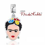 jewels,amo berloque,charms,silver charm,sterling silver charms,enamel pendant,frida kahlo