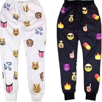 emoji pants emoji sweats tilles pants jeans emoji print