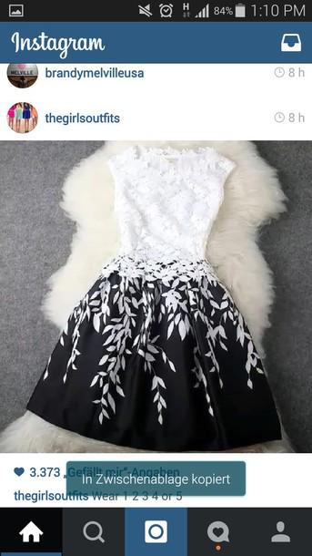 dress black and white dress instagram short dress