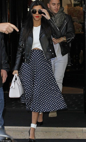 kourtney kardashian skirt top