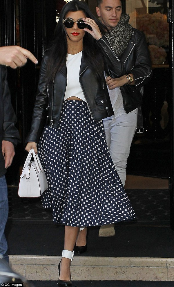 skirt kourtney kardashian top