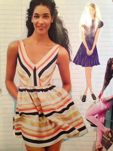dress lucky magazine striped dress summer dress